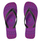 Purple flower mandala thongs