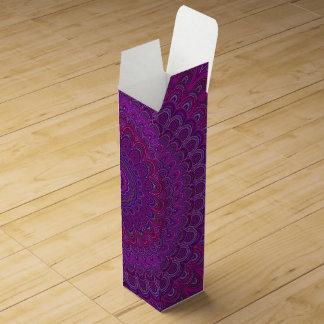 Purple flower mandala wine gift box