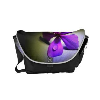 Purple Flower Messenger Bag