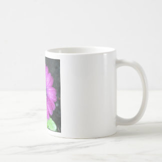Purple flower mug