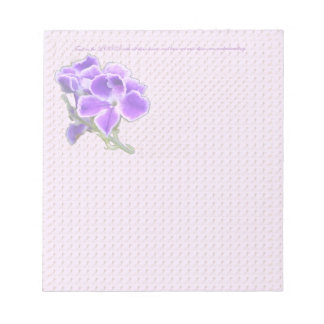 Purple Flower Notepad