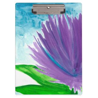 Purple Flower on a Blue Sky Clipboard