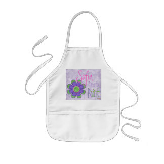 Purple Flower Painting Apron