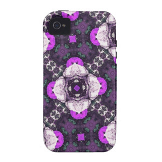 Purple Flower Pattern Case-Mate iPhone 4 Cover