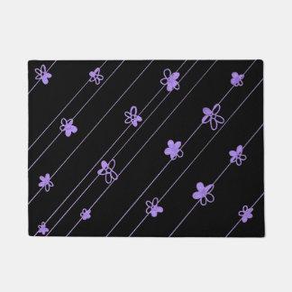 Purple Flower Pattern door mat