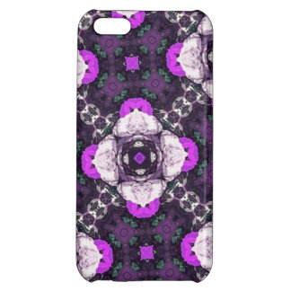 Purple Flower Pattern iPhone 5C Cover