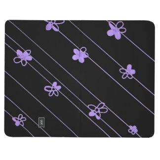Purple Flower Pattern pocket journal