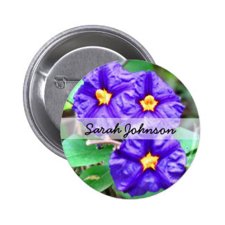 Purple Flower Photograph 6 Cm Round Badge