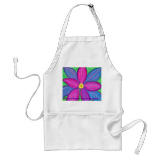 Purple Flower Power Standard Apron