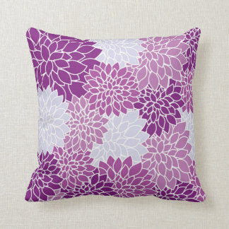 Purple  Flower Power throw pillow Lighthouse Route