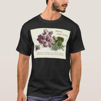 Purple Flower Prayer Sunday Mother's Day T-Shirt