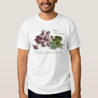Purple Flower Prayer Sunday Mother's Day T Shirts