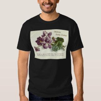 Purple Flower Prayer Sunday Mother's Day Tshirt