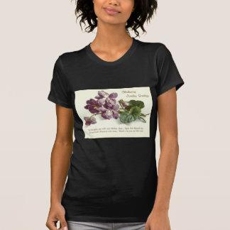 Purple Flower Prayer Sunday Mother's Day Shirts