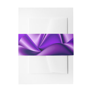 Purple Flower Rainbow Dreams Invitation Belly Band