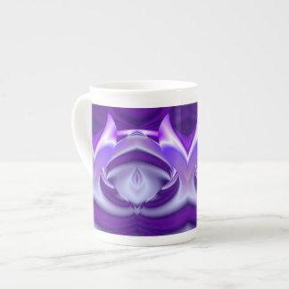 Purple Flower Rainbow Dreams Tea Cup