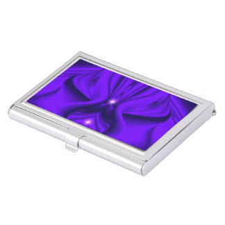 Purple Flower Rainbow Dreams - Two Strars Business Card Holder