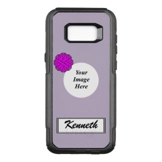 Purple Flower Ribbon Template by Kenneth Yoncich OtterBox Commuter Samsung Galaxy S8+ Case
