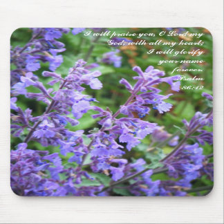 Purple Flower Scripture Mousepad