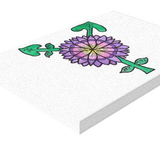 Purple Flower Transgender Symbol Canvas Print