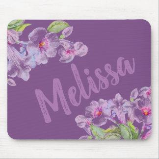 Purple Flower Violet Girly Mousepad