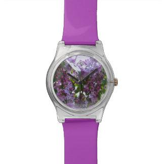 Purple Flower Watch