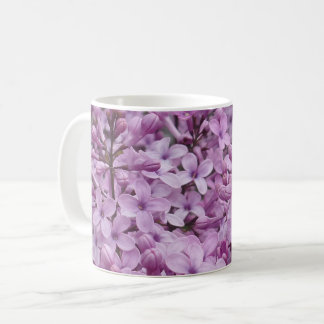 Purple Flower White Coffee Mug