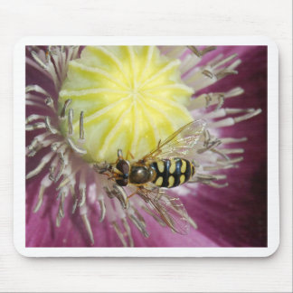 Purple Flower with Insect Mousepad