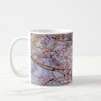 Purple Flowering Branches Coffee Mug