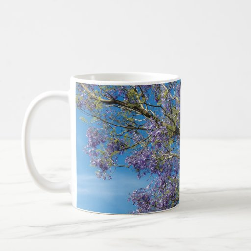 Purple Flowering Branches Coffee Mugs