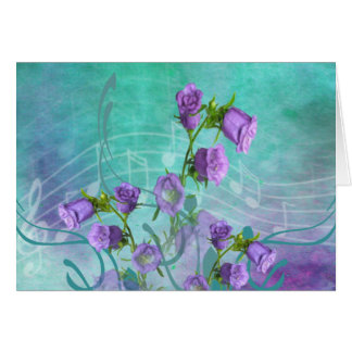 Purple Flowers and Musical Notes