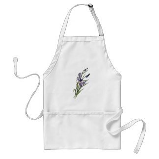 Purple Flowers Standard Apron