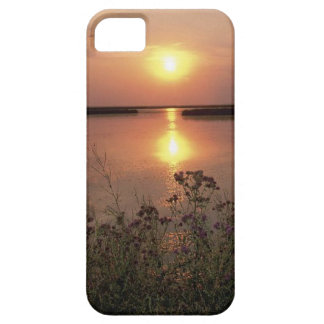 Purple Flowers at a Lake at Sunset Barely There iPhone 5 Case