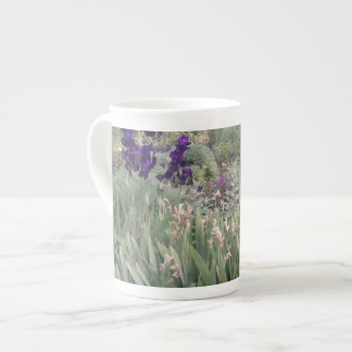 Purple flowers at the Botanical Gardens, Cambridge Tea Cup