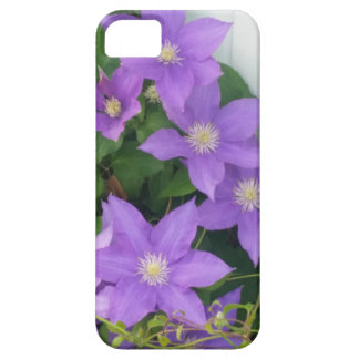 purple flowers barely there iPhone 5 case