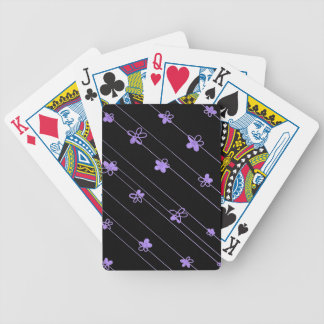 Purple Flowers Bicycle® Poker Playing Cards