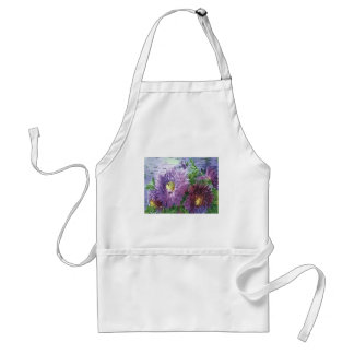 PURPLE FLOWERS by SHARON SHARPE Adult Apron