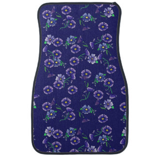 Purple Flowers Car Mat