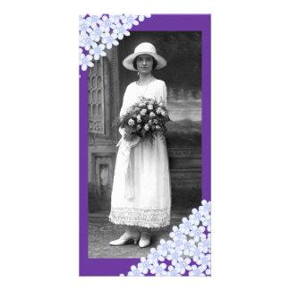 Purple Flowers Custom Photo Card