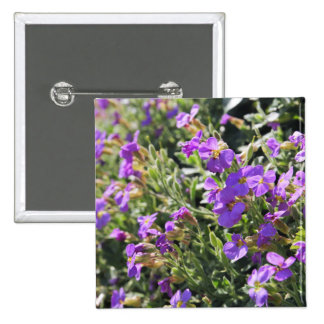 Purple flowers in bloom during Spring Pinback Buttons