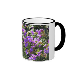 Purple flowers in bloom during Spring Coffee Mugs