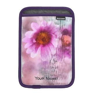 Purple flowers iPad mini sleeve