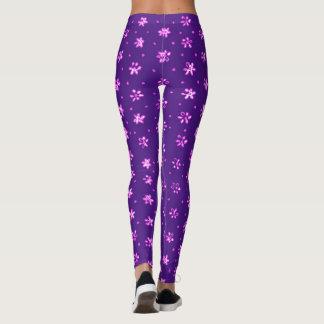 Purple flowers - Leggings