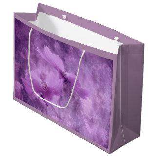 Purple Flowers on Gift Bag
