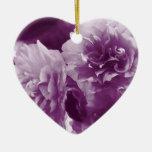 Purple Flowers Ornament