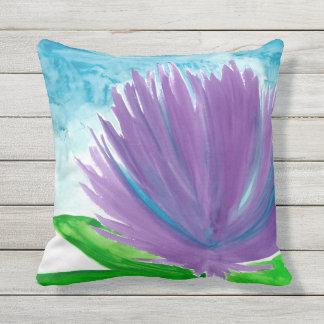 Purple Flowers Outdoor Cushion