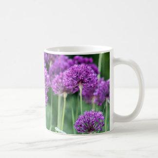 Purple flowers photo coffee mug