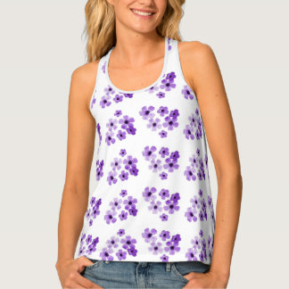 Purple Flowers Singlet