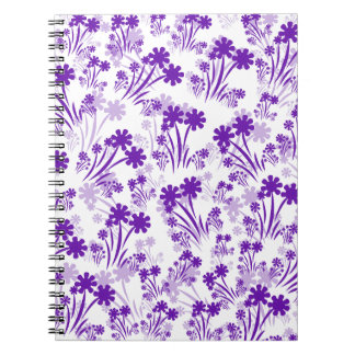 Purple Flowers Spiral Note Books