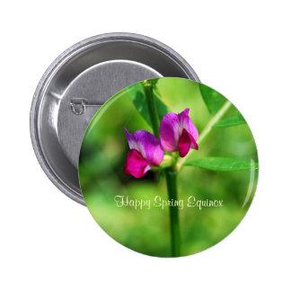 Purple Flowers Spring Equinox Pin